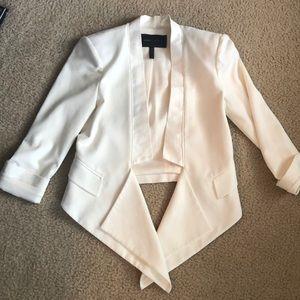 BCBG Maxazria Tuxedo Blazer White